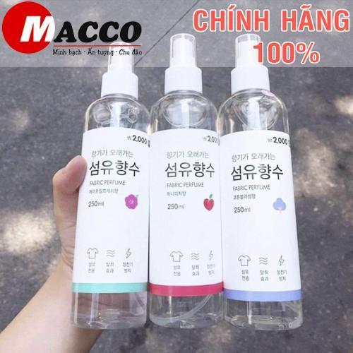 Xịt Thơm Quần Áo Fabric Perfume Hàn Quốc Thơm Cả Ngày Dài 250ml