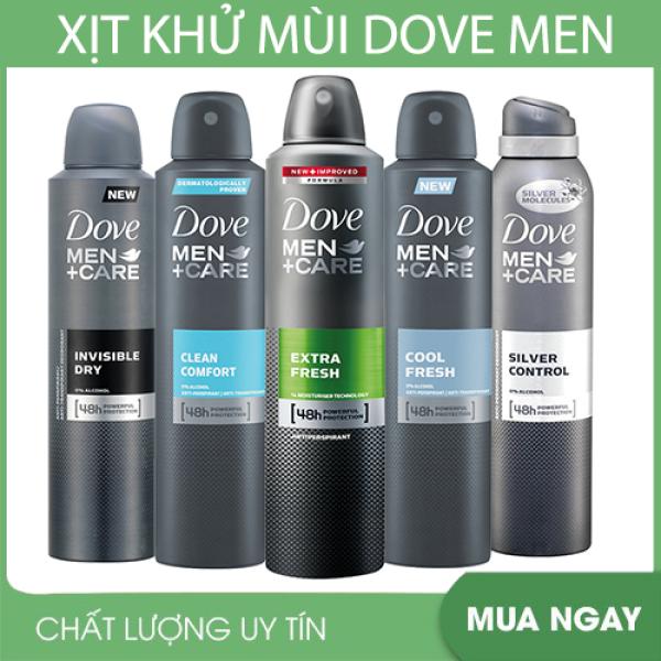 Xịt Khử Mùi Cho Nam Dove Men Care 48h Clean Comfort nhập khẩu