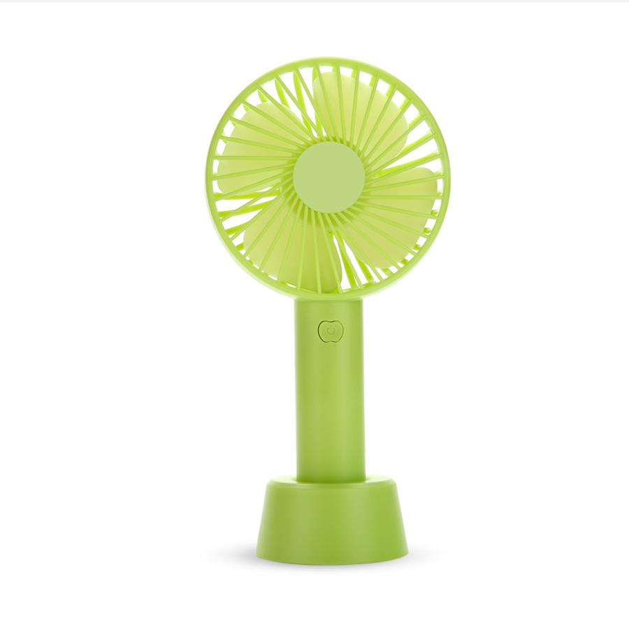 [Tặng chân đế giữ quạt] Quạt mini tích điện có chân để bàn tiện ích - 3 mức độ gió siêu mát SS-2