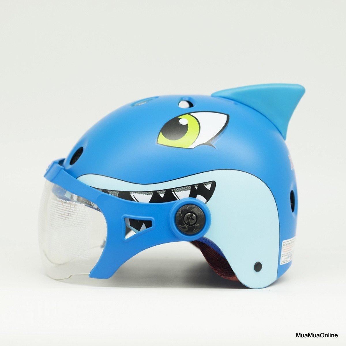 Giá bán Nón Bảo Hiểm Trẻ Em Có Kính Hình Cá Mập