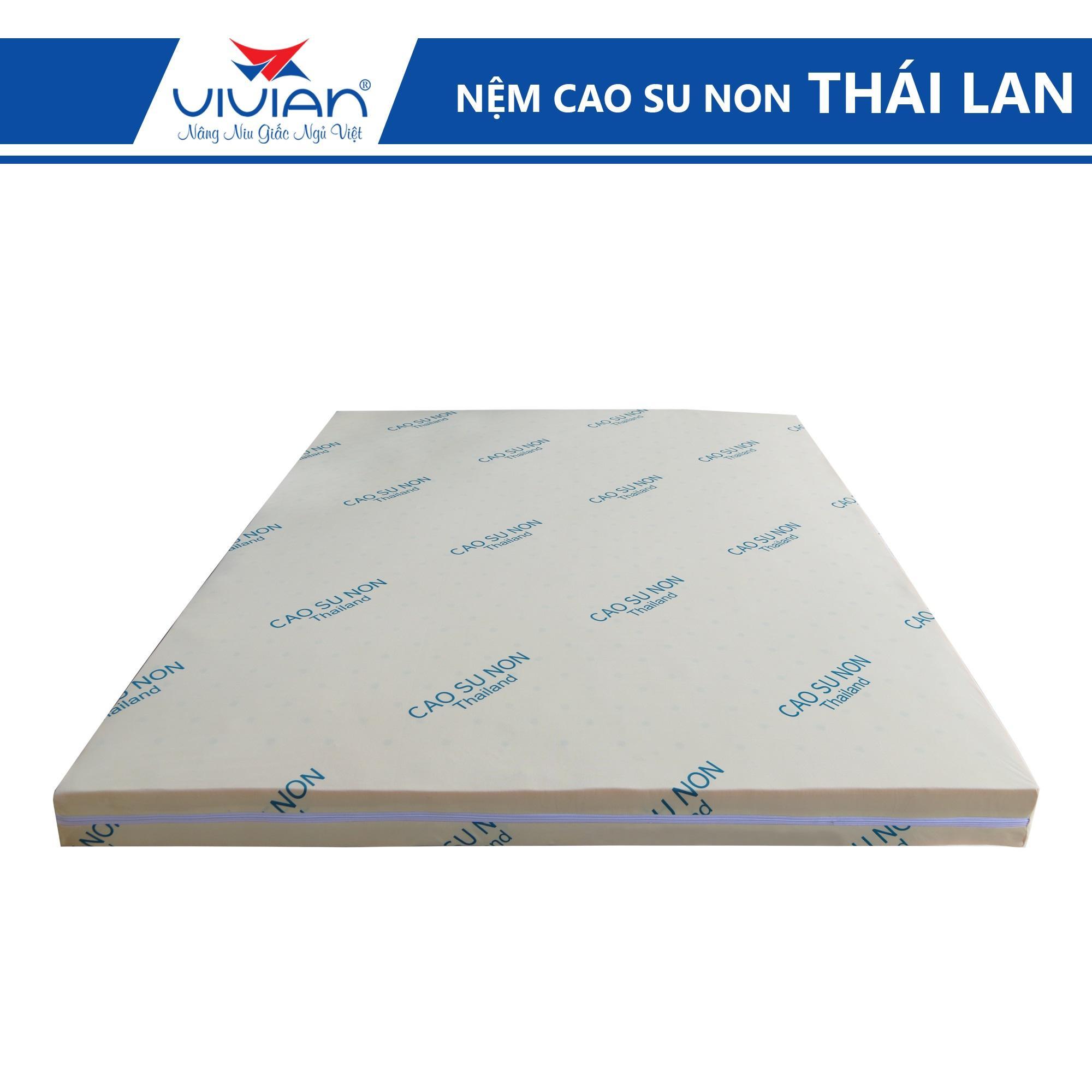 Nệm Cao Su Non THAILAND 1m6*2m*10cm - Bảo Hành Xẹp Lún Chính Hãng 10 Năm Giá Siêu Cạnh Tranh