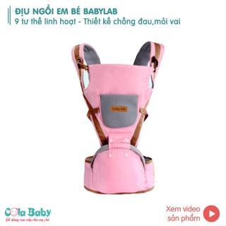 Địu em bé chống gù 9 tư thế Babylab , địu nhẹ 0.5 kg, chất liệu vải mềm cao cấp thumbnail