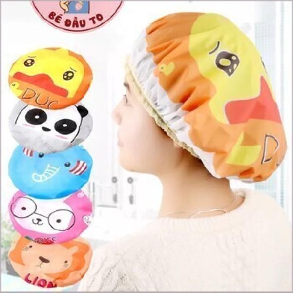Mũ tắm chùm kute đầu dành cho nữ dùng khi tắm gội, ủ tóc, trang điểm, rửa mặt nhập khẩu