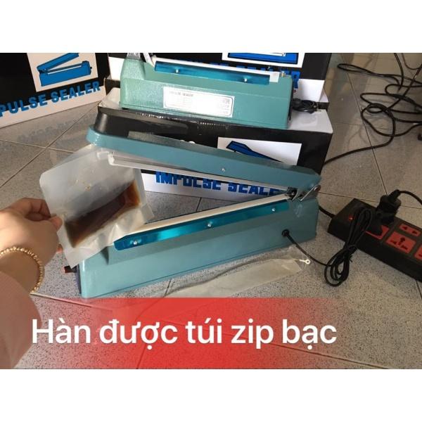 [HCM]Máy hàn miệng túi 300cm vỏ thép siêu bền. Ép miệng túi zip bạc