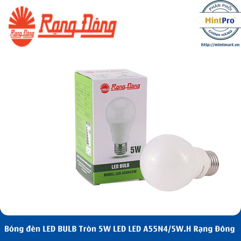 Bóng đèn LED BULB Tròn 5W LED A55N4/5W.H Rạng Đông - Hàng Chính Hãng