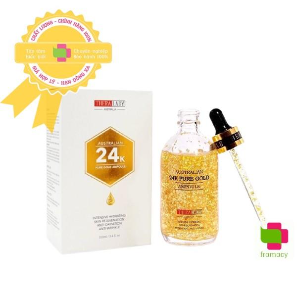 Tinh chất vàng Thera Lady Australian 24k Pure Gold Ampoule, Úc (100ml) dưỡng da cho người trên 25 tuổi cao cấp