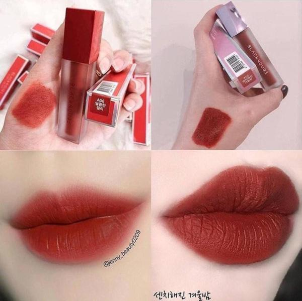 Son Black Rouge Air Fit Velvet Tint Mood Filter A12 – Dashed Brown và A06 - Đỏ Nâu
