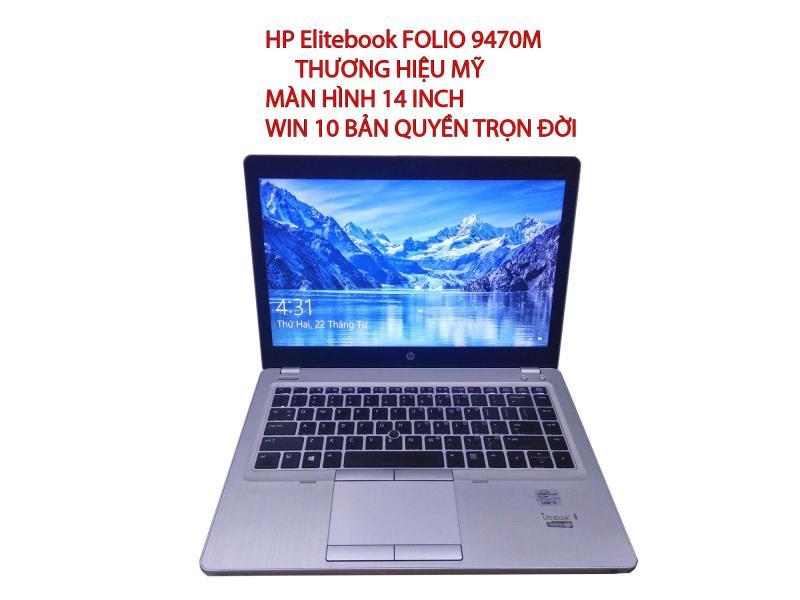 Laptop HP Folio 9470m Windonw 10 pro 64b màn hình 14 in Ram 4Gb ổ cứng ssd 180gb tặng kèm túi chống xốc