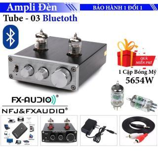 Ampli Bluetooth FX Audio TUBE-03 6J1 Preamplifier Đèn, Chỉnh Bass-Treble - Kết nối không dây với bộ phụ kiện đi kèm Tặng 1 cặp 2 bóng mỹ Ge JAN 5654W thumbnail