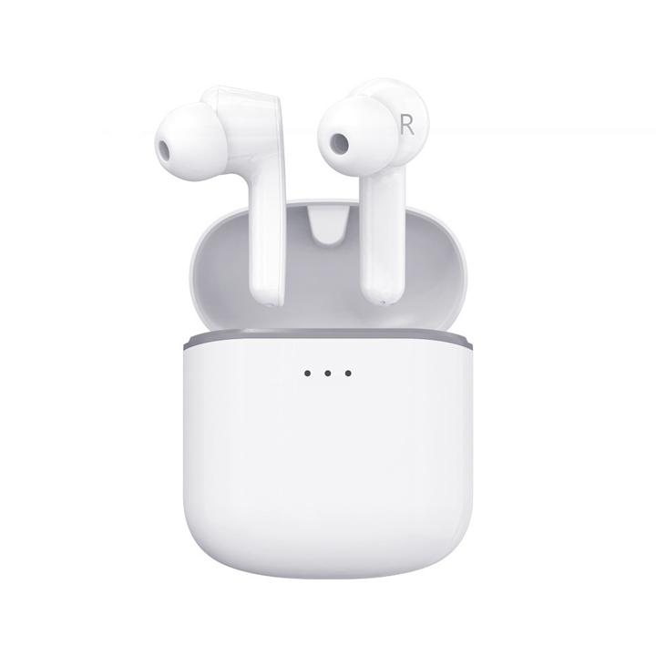 Tai nghe Bluetooth True Wireless Remax TWS-7 kèm dock sạc có thể kết nối từng tai riêng lẻ