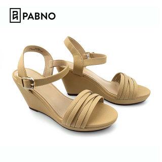 Sandal nữ/ sandal đế xuồng 9p, da siêu mềm phong cách công sở thời thượng PABNO PN13003