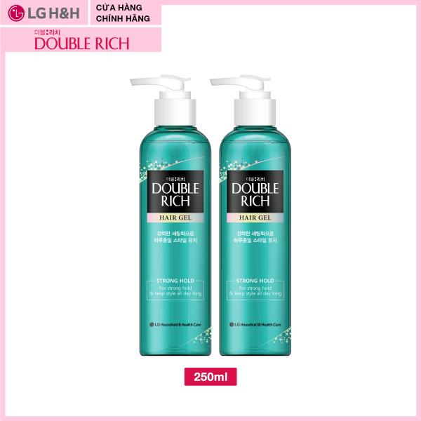 Combo 2: Gel tạo kiểu tóc Double Rich Giữ nếp uốn tóc 250ml cao cấp