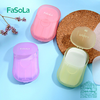 Xà phòng giấy bỏ túi tiện dụng Xà phòng giấy du lịch thân thiện với da tay (50 miếng) [FASOLA] FSLJY-162 thumbnail