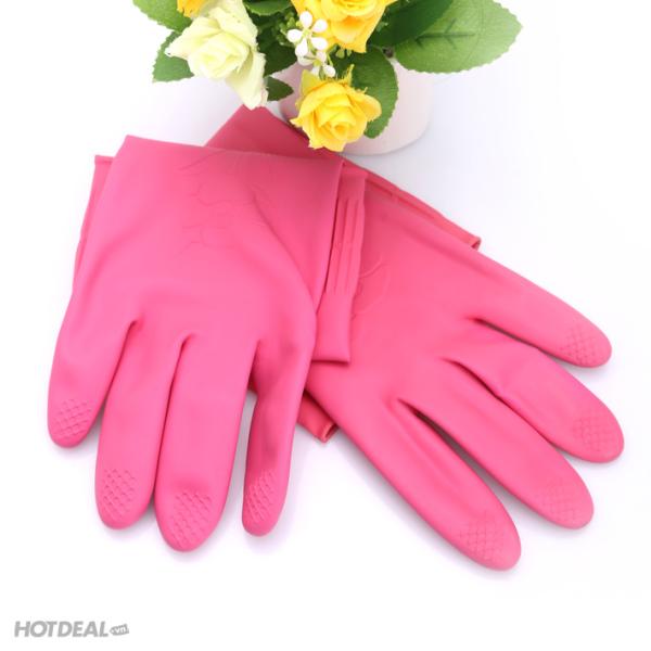 Găng tay cao su rửa chén, vệ sinh nhà cửa giá rẻ cao su thiên nhiên chống trượt