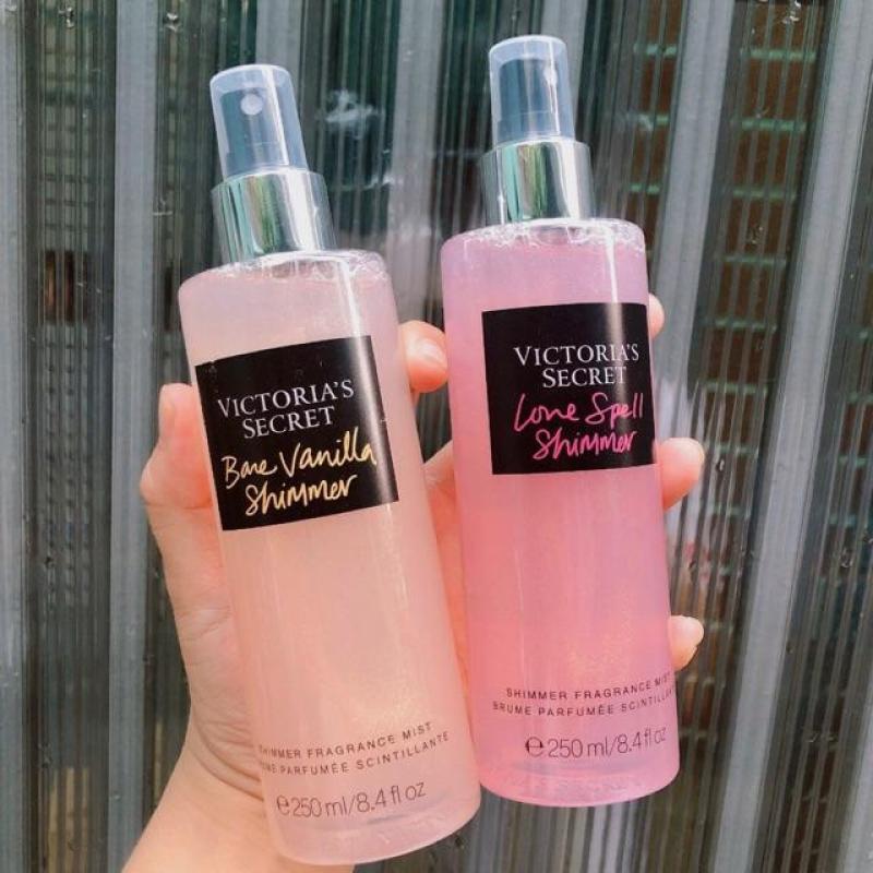 Xịt bắt sáng, chai xịt bắt sáng tạo hiệu ứng cho body Shimmer Secret Hương Nước Hoa, 250ml