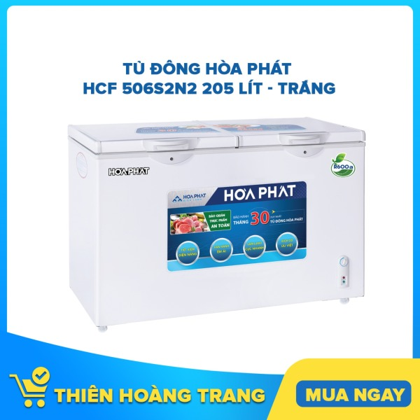 Tủ đông Hòa Phát HCF 506S2N2 205 lít - trắng
