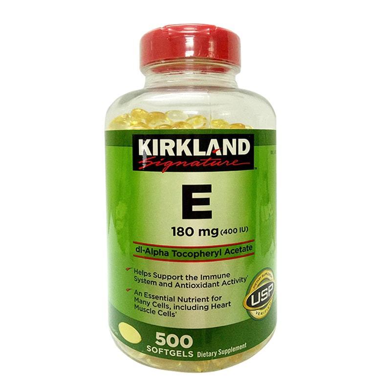 Vitamin e Kirkland 500 viên - đẹp da mượt tóc - USA