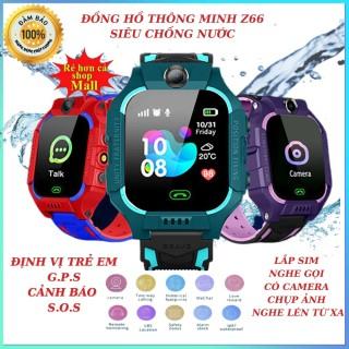 Đồng hồ thông minh định vị trẻ em Z66 Siêu chống nước định vị trẻ em lắp sim nghe gọi bảo hành 24 tháng đổi mới 15 ngày thumbnail