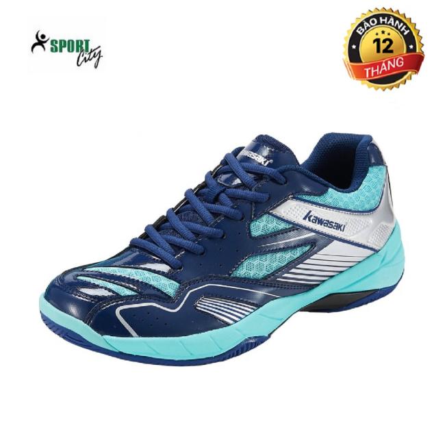 Giày cầu lông nam Kawasaki K159 màu xanh, màu trắng, đế kếp, ôm chân - Giày cầu lông nữ - giày bóng chuyền nam nữ giá rẻ