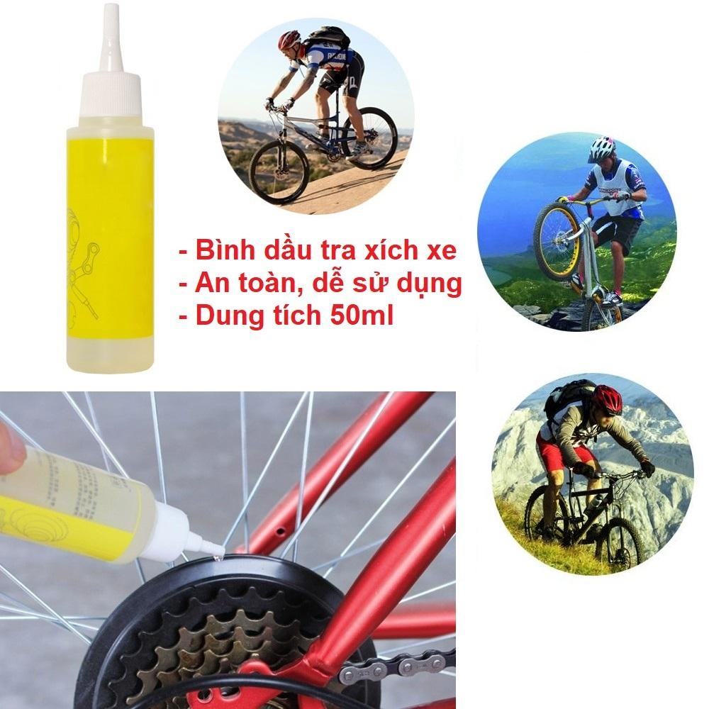 Dầu tra xích xe đạp bánh răng
