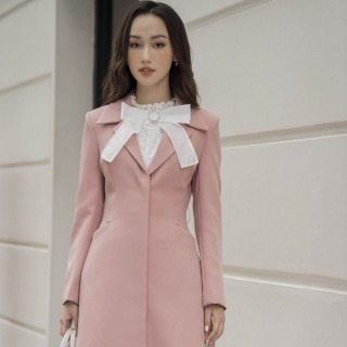 Áo măng tô hồng đai eo Elise FW2008214OCWOPK thumbnail