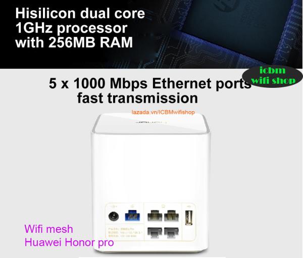 Bảng giá Phát Wifi Huawei Honor pro AC1200, CD15, CD16 băng tần kép tốc độ cao AC1200, Lan gigabit, tính năng Mesh nhiều router Phong Vũ