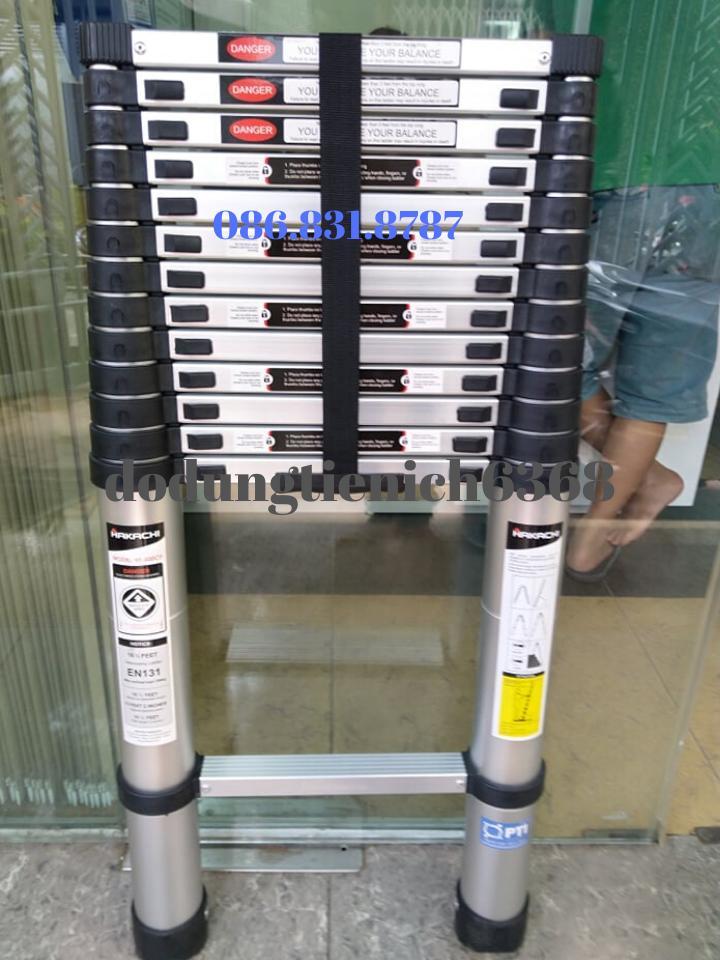 THANG NHÔM RÚT HAKACHI HT-380CP - 3M8 - BH 24 THÁNG. Mới Nhất 2019