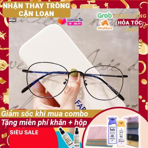 Mua [Lấy mã giảm thêm 30%]Gọng kính mắt tròn nhiều màu Lilyeyewear 28107 chất liệu kim loại phụ kiện thời trang nữ phù hợp nhiều khuôn mặt một size