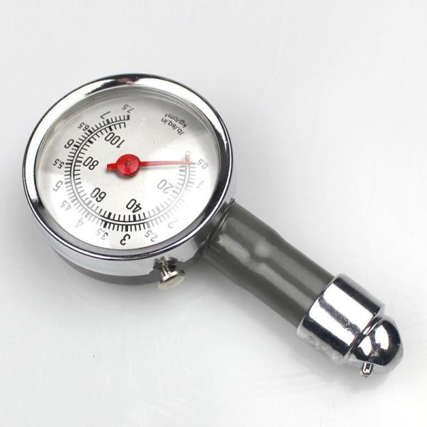 Đồng hồ đo áp suất lốp ô tô xe máy vỏ thép không gỉ- đồng hồ báo áp suất lốp xe hơi