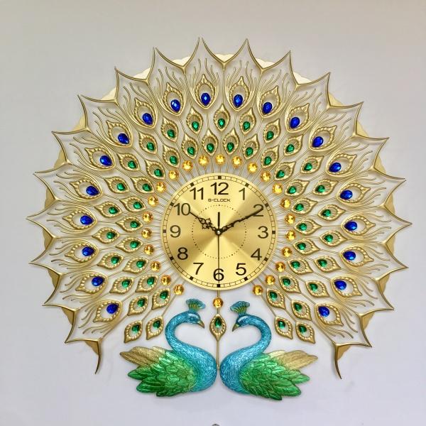 Đồng hồ treo tường con công đẹp trang trí hàng Việt Nam chất lương cao làm quà tặng tân gia D2010 bán chạy