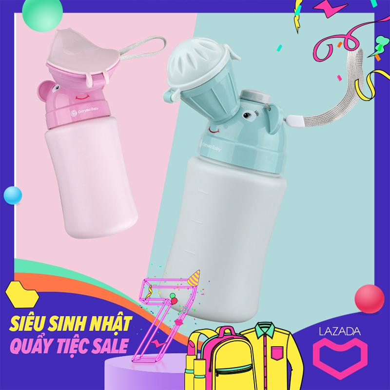 Bình đi tiểu mini tiện dụng cho bé trai, bé gái khi du lịch, trên xe hơi, xe ôtô bệnh viện BTX mini _ nhựa (màu xanh- màu hồng)