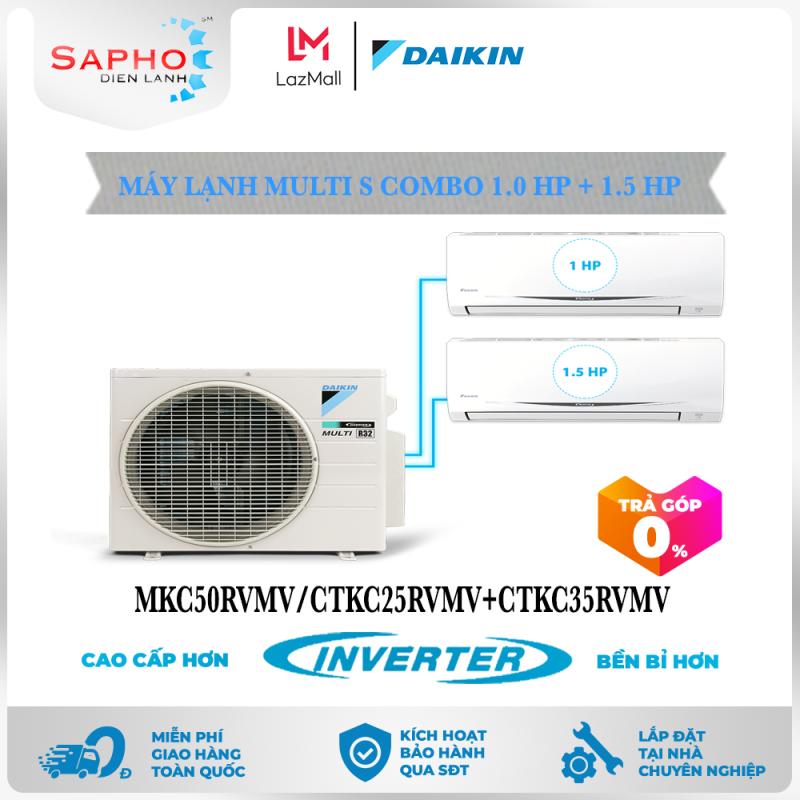 [Free Lắp HCM & HN] Combo 1.0HP + 1.5HP Inverter - Máy Lạnh Multi S Combo 2 Dàn Lạnh Treo Tường MKC50RVMV/CTKC25RVMV+CTKC35RVMV Điều Hòa 1 Chiều Lạnh Chính Hãng Daikin - Điện Máy Sapho