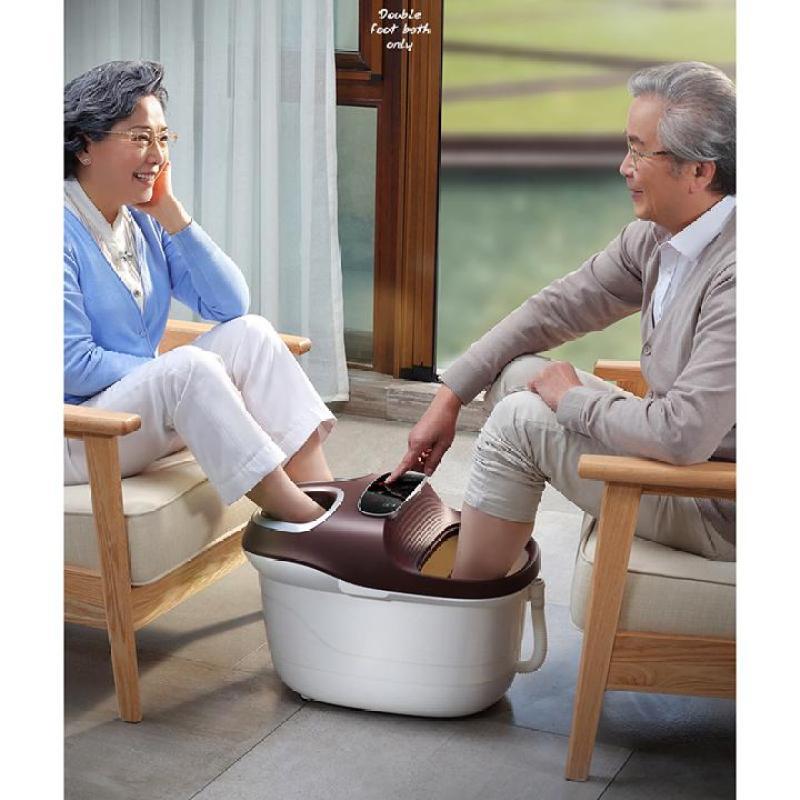 Máy ngâm massage chân YHK-999 cho 2 người có bánh xe cao cấp