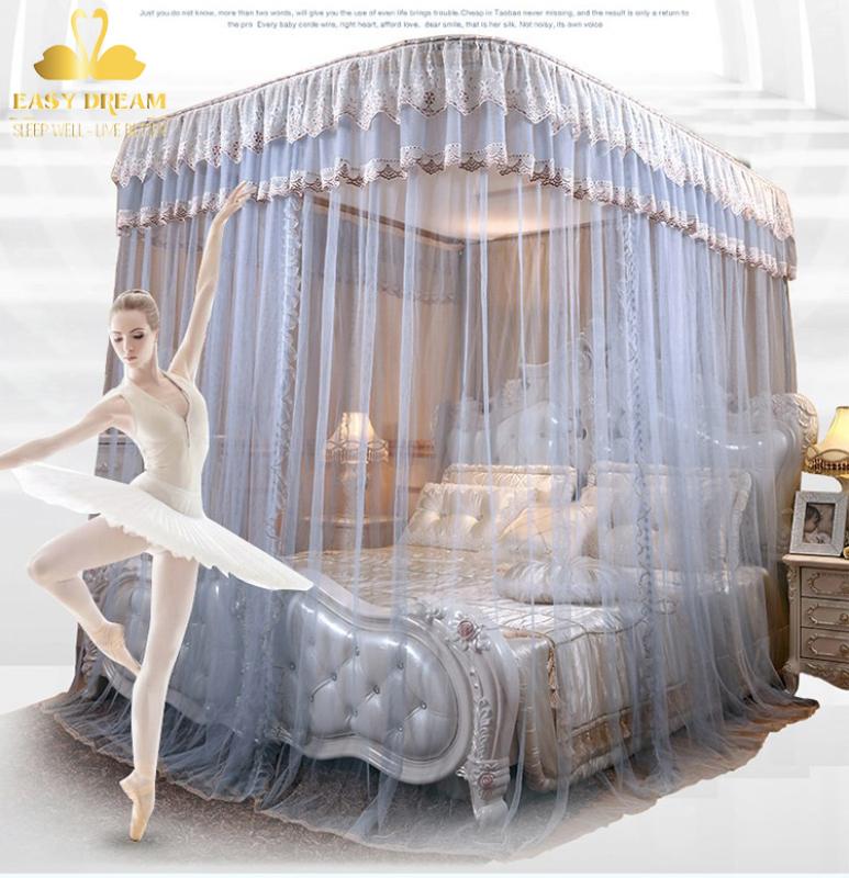 Màn khung (mùng ) không phải khoan tường  (kích thước 1.8*2m)  khung inox cao cấp -vải tuyn mắt nhỏ chống muỗi -màn cưới -trang trí phòng ngủ
