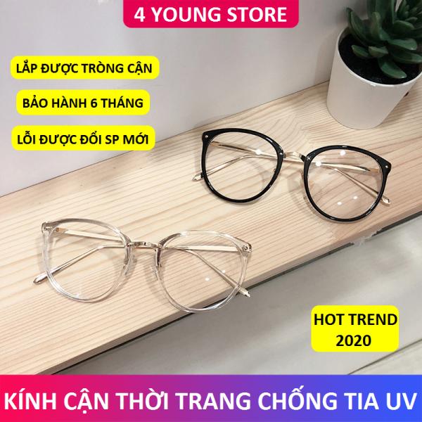 Mua Kính cận thời trang mắt tròn sang trọng phong cách Hàn Quốc mới bảo hành 12 tháng lỗi 1 đổi 1 - Kính không độ Unisex 4 Young Store 019