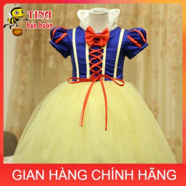 Nơi bán ANH THẬT Váy đầm hóa trang công chúa Bạch Tuyết cho bé gái E154