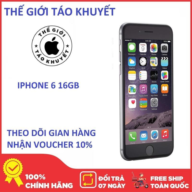 Điện thoại Apple IPHONE 6 - 16GB - Full phụ kiện - Bảo hành 12 tháng - Giá rẻ nhat LAZ - Thế Giới Táo Khuyết