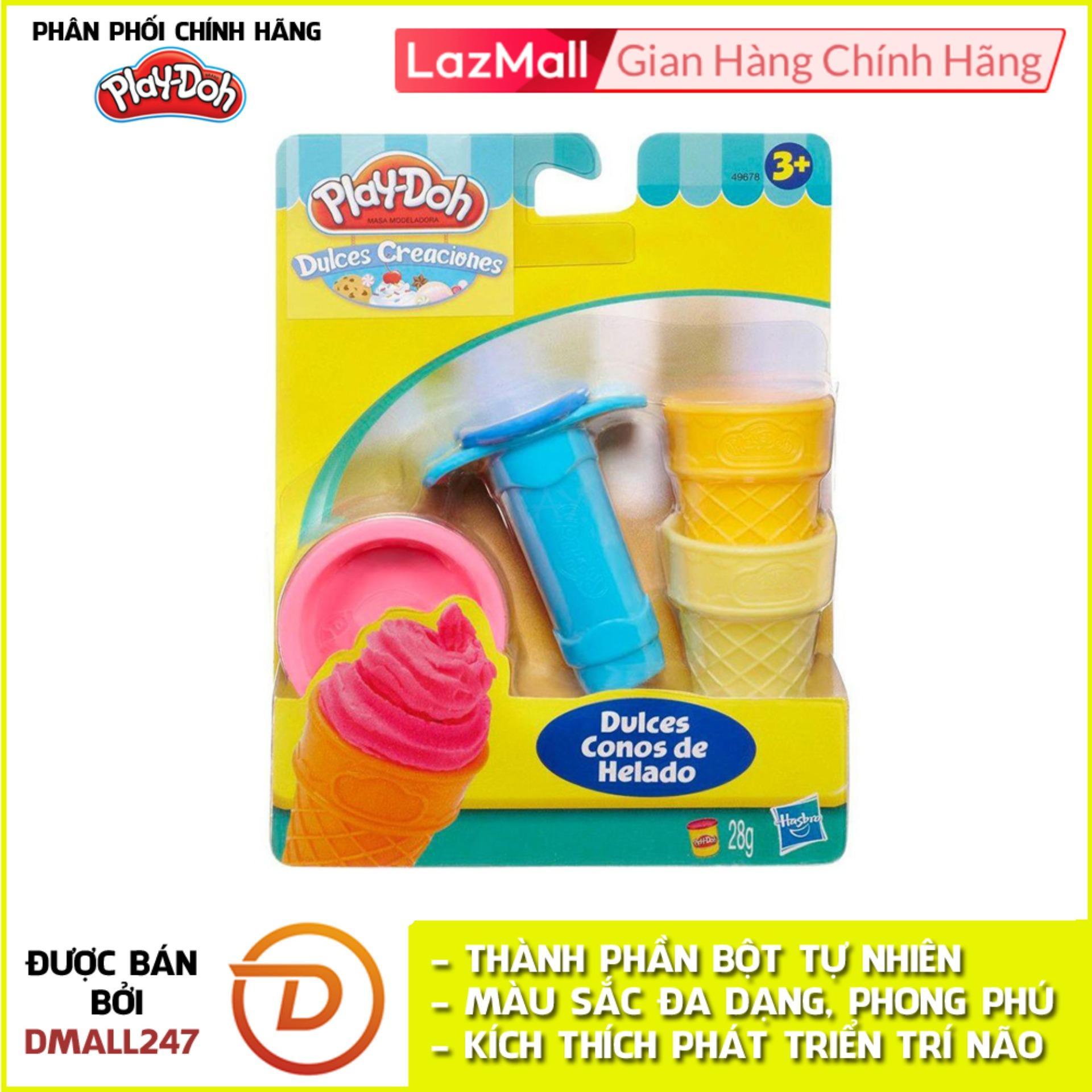 Bộ Bột Nặn Tạo Hình Làm Kem Mini Play-Doh 49654 Giá Siêu Rẻ
