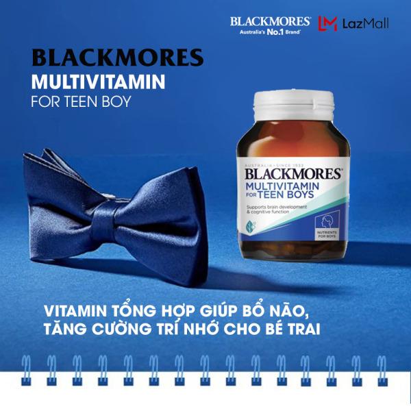 Blackmores Teen Multi for Boys 60v - Vitamin tổng hợp giúp bổ não, tăng cường trí nhớ cho bé trai Blackmore Úc