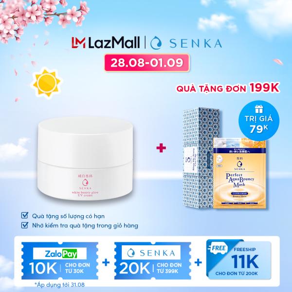 Kem dưỡng trắng da & giảm thâm nám ban ngày Senka White Beauty UV Cream 50g SPF 25 PA ++