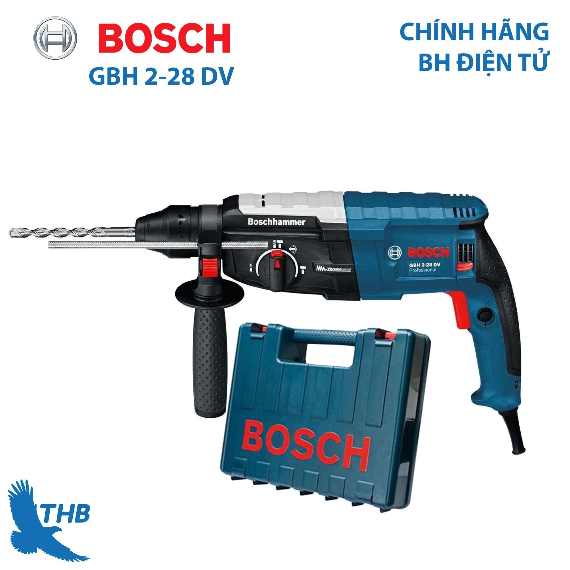 Máy khoan búa Máy khoan đục bê tông Bosch GBH 2-28 DV Công suất 850W Mũi khoan búa 28mm Bảo hành 12 tháng Chống rung