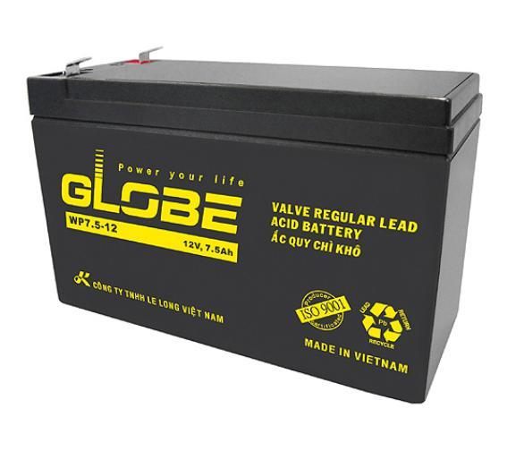 Bảng giá Ắc quy khô Globe 12V-7_5Ah dùng cho UPS, Cửa Cuốn Phong Vũ