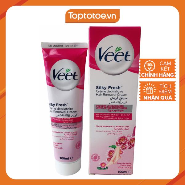 Kem tẩy lông Veet Silk Fresh - Normal Skin 100ml nhập khẩu