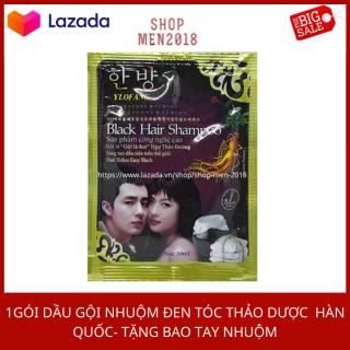 Nhuộm tóc màu xanh đen tự nhiên cho nam nữ Hàn Quốc thumbnail