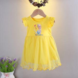 Cửa Hàng Ropalia Váy Lưới Công Chúa Ngắn Tay In Bảng Chữ Cái Tiếng Anh Cho Bé Gái Tập Đi Mùa Hè Áo Vest Cotton Váy Xòe Váy Trang Phục Váy Xòe