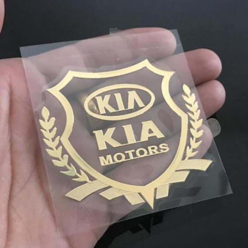Bộ 2 logo decal nổi các hãng xe ô tô (KIA)