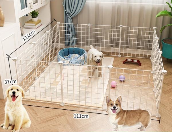 Chuồng Chó Chuồng Mèo Chuồng Thú Cưng Nhà Cho Chó Lồng Chó Lắp Ghép 12 Tấm Lưới Size 35*35 và 45*35cm