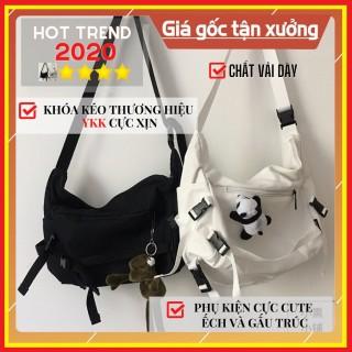 Túi vải Túi đeo chéo Canvas nam nữ học sinh sinh viên đi học đi chơi thời trang Hàn Quốc thumbnail