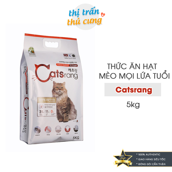 Thức Ăn Hạt Cho Mèo Catsrang Hàn Quốc 5Kg - Giá Siêu Ưu Đãi