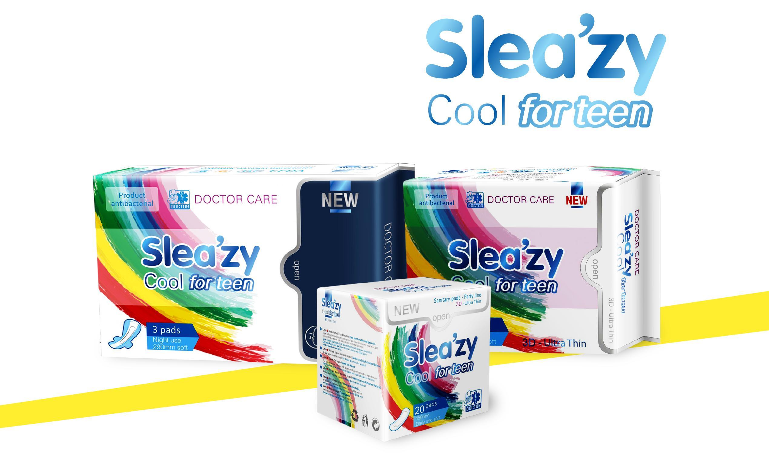 Doctor Care/Băng vệ sinh thảo dược SleaZy Cool For Teen Ban ngày nhập khẩu